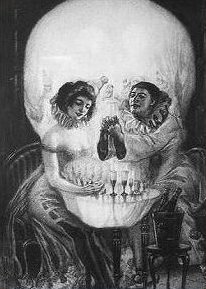 Teschio o persone - Nuda allo specchio ...