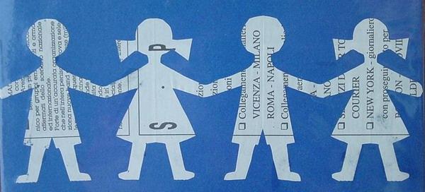 Girotondo Di Bambini Ritagliato Nella Carta A